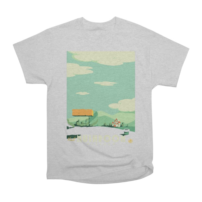 Visit Mushroom Kingdom Men's Heavyweight T-Shirt by mathiole
