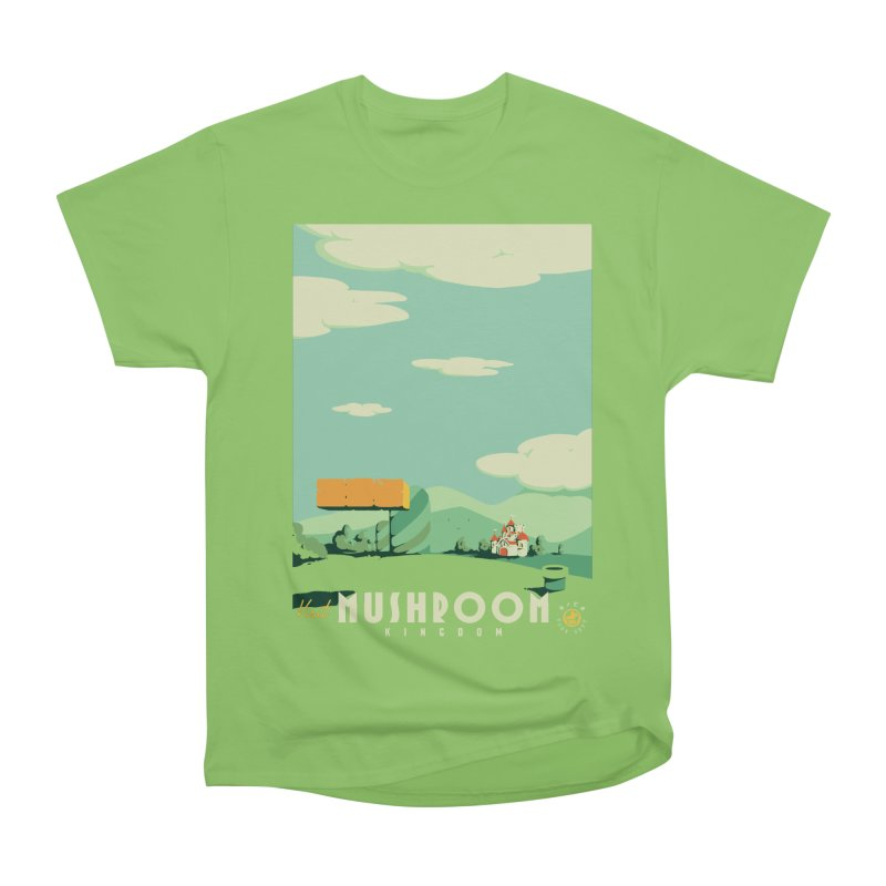 Visit Mushroom Kingdom Women's Heavyweight Unisex T-Shirt by mathiole