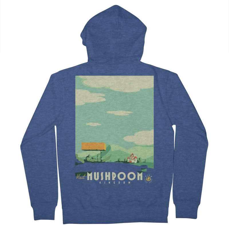 Visit Mushroom Kingdom Men's Zip-Up Hoody by mathiole