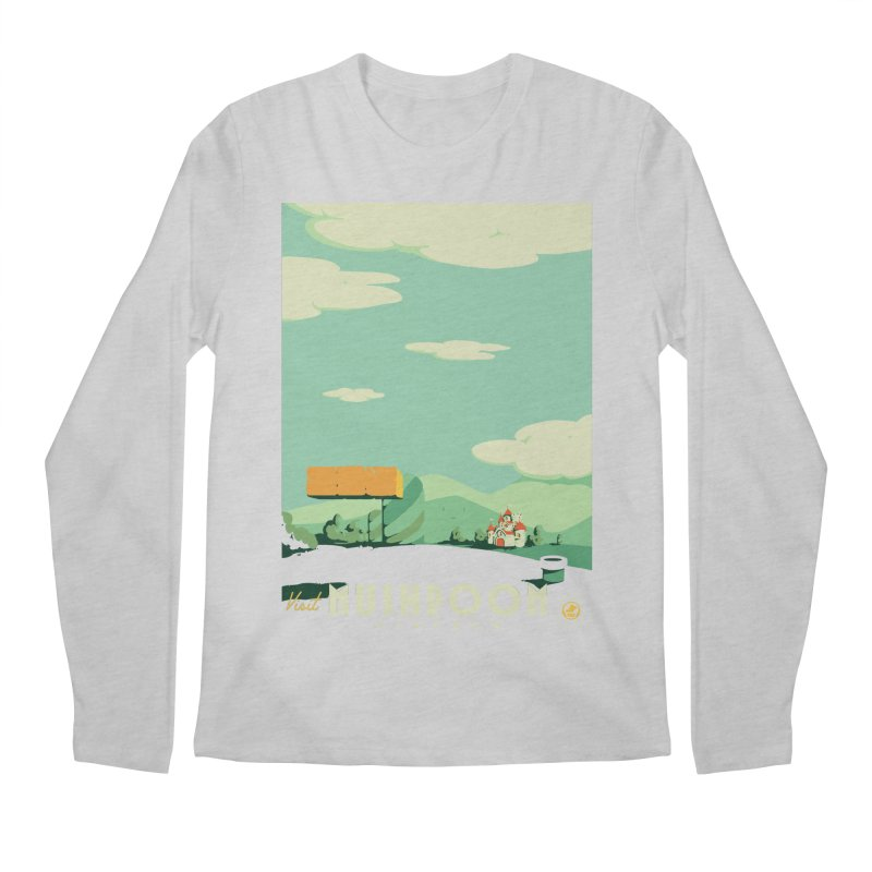 Visit Mushroom Kingdom Men's Regular Longsleeve T-Shirt by mathiole