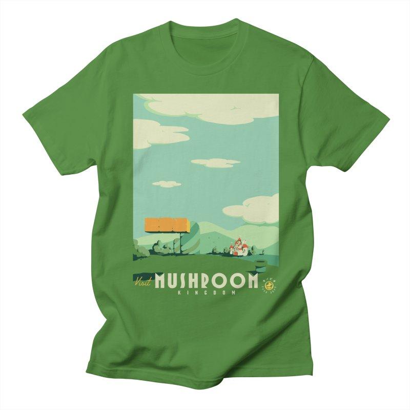 Visit Mushroom Kingdom Men's T-Shirt by mathiole