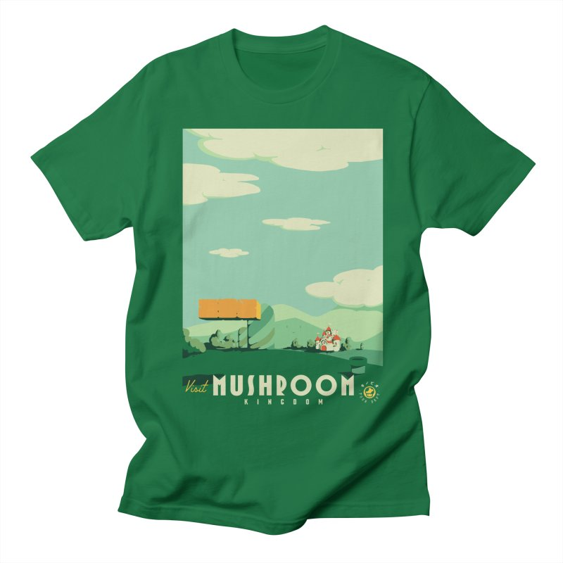 Visit Mushroom Kingdom Men's Regular T-Shirt by mathiole