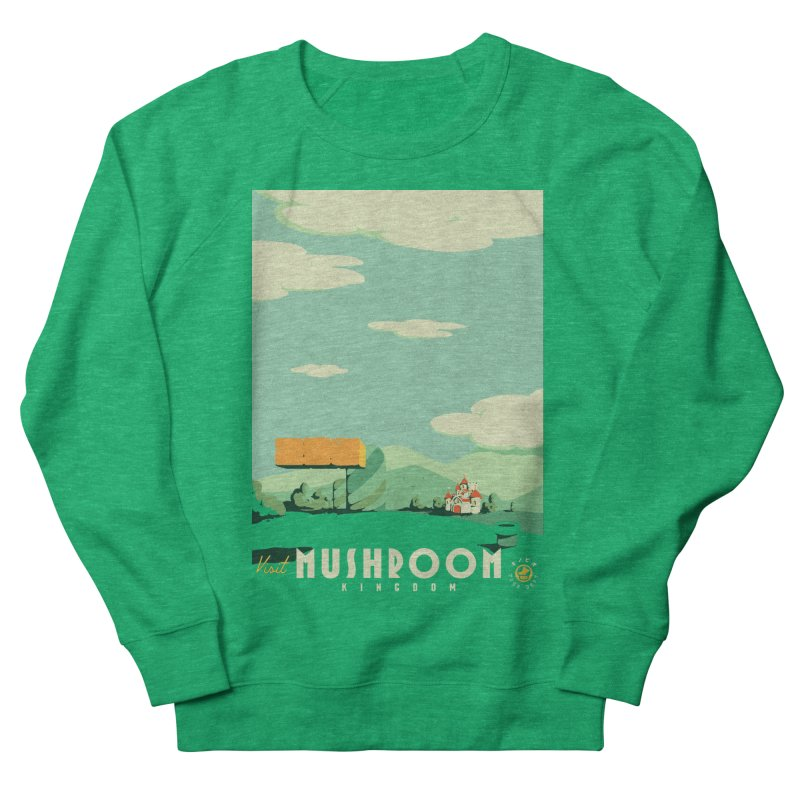 Visit Mushroom Kingdom Women's French Terry Sweatshirt by mathiole