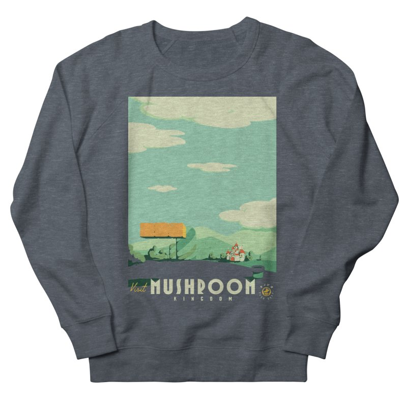 Visit Mushroom Kingdom Men's French Terry Sweatshirt by mathiole