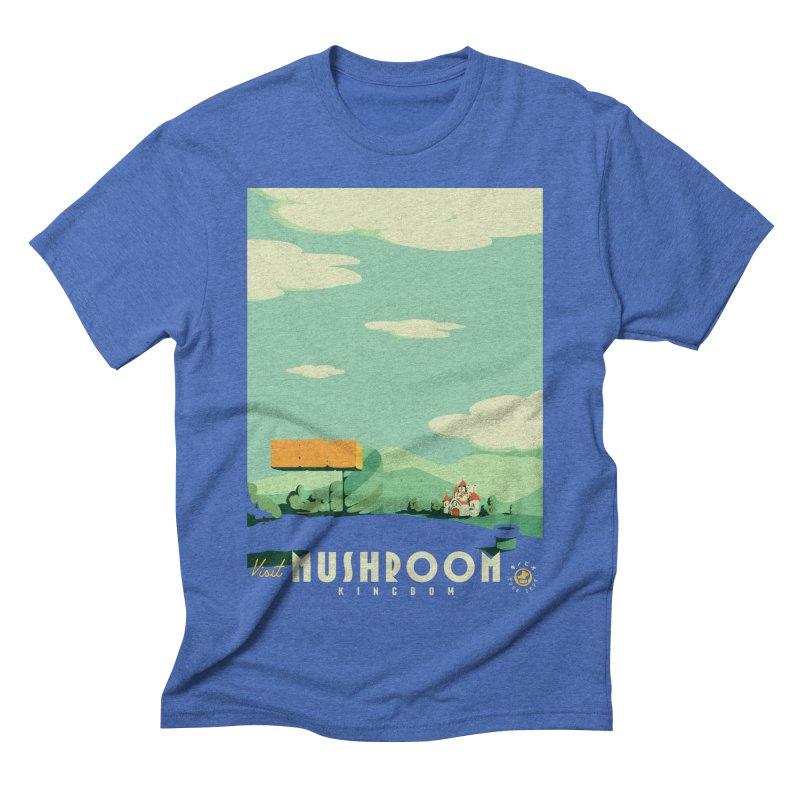 Visit Mushroom Kingdom Men's Triblend T-Shirt by mathiole