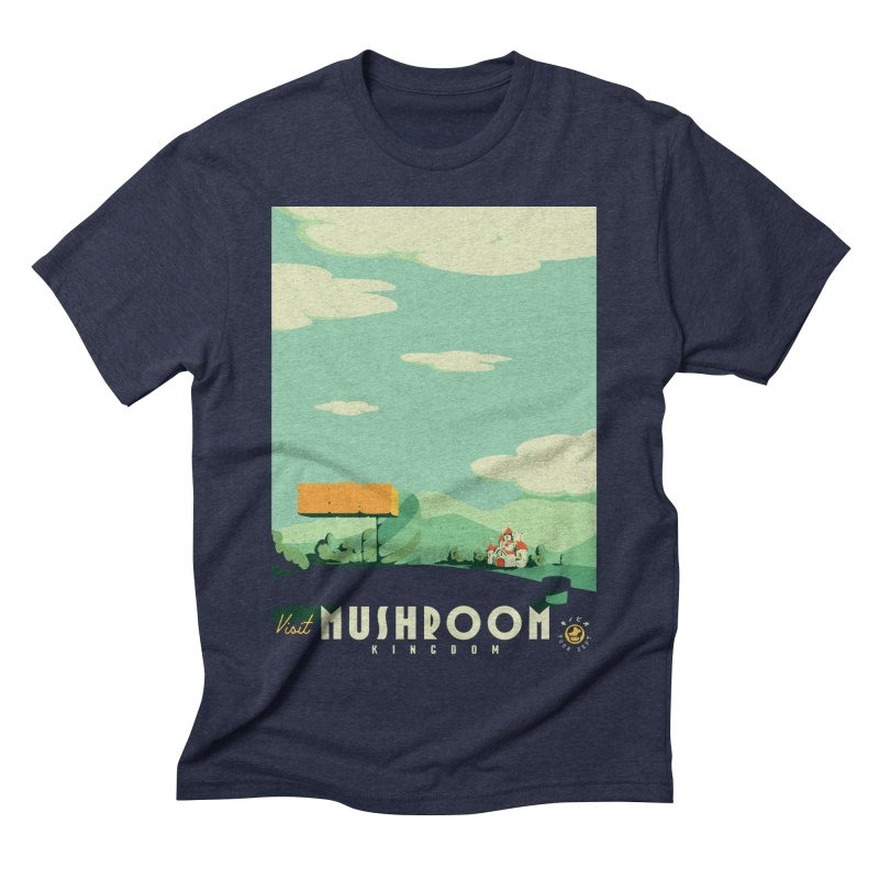 Visit Mushroom Kingdom Men's Triblend T-Shirt by mathiole