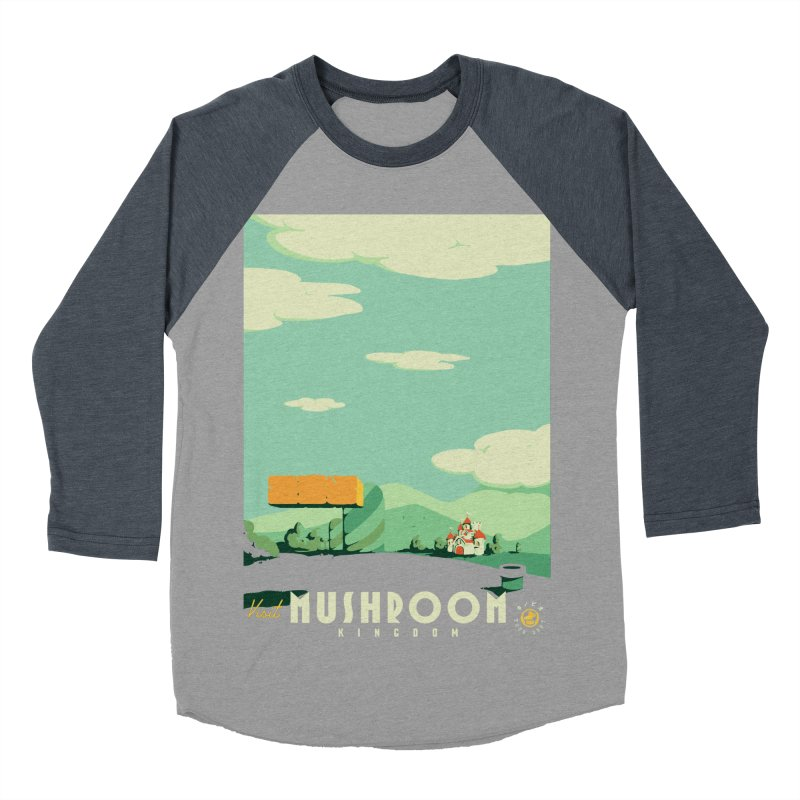 Visit Mushroom Kingdom Men's Baseball Triblend Longsleeve T-Shirt by mathiole