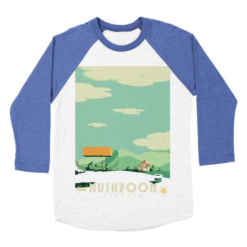 Visit Mushroom Kingdom Men's Baseball Triblend T-Shirt by mathiole