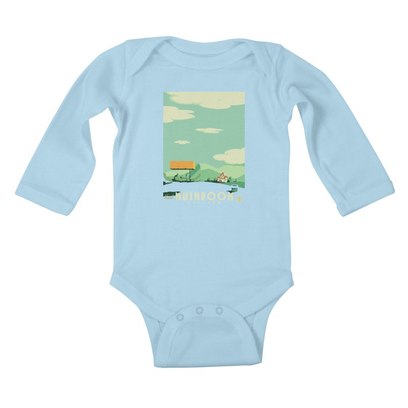 Visit Mushroom Kingdom Kids Baby Longsleeve Bodysuit by mathiole