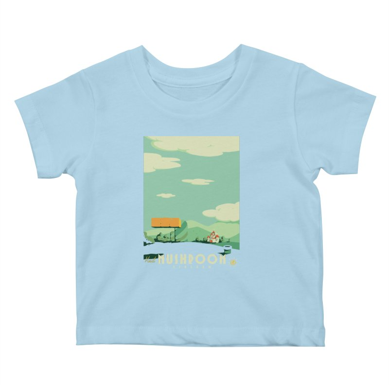 Visit Mushroom Kingdom Kids Baby T-Shirt by mathiole