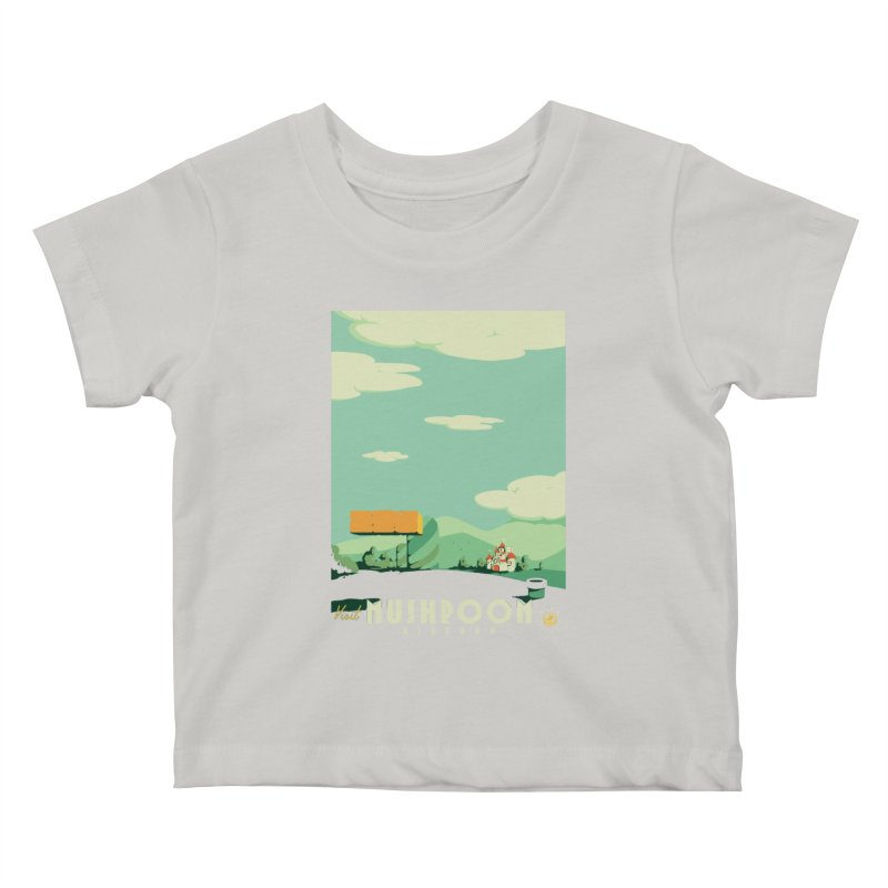 Visit Mushroom Kingdom Kids Baby T-Shirt by mathiole