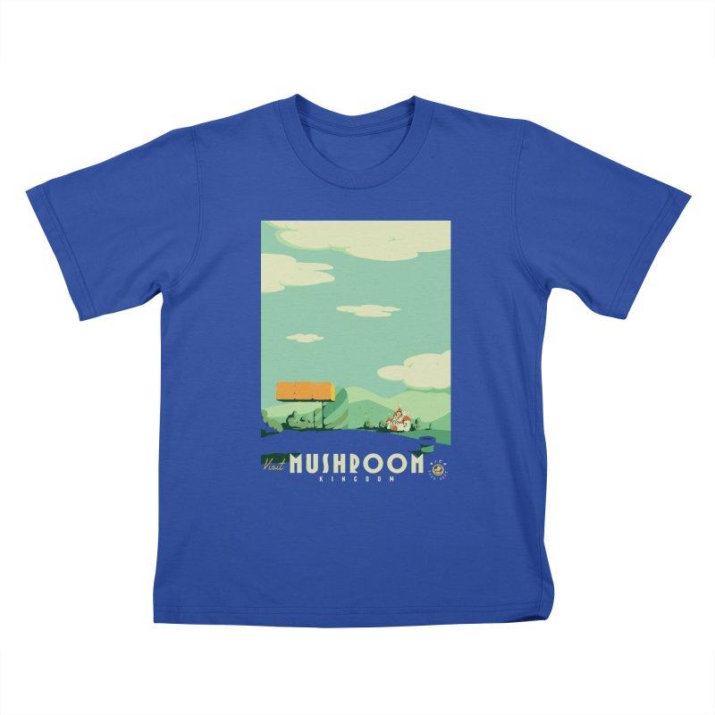 Visit Mushroom Kingdom Kids T-Shirt by mathiole