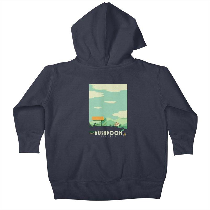 Visit Mushroom Kingdom Kids Baby Zip-Up Hoody by mathiole