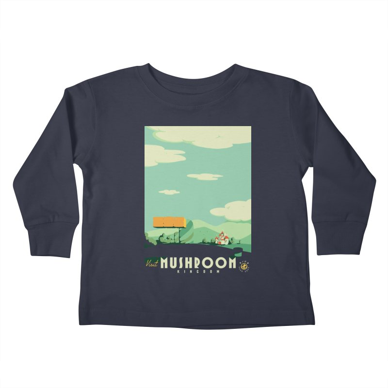 Visit Mushroom Kingdom Kids Toddler Longsleeve T-Shirt by mathiole