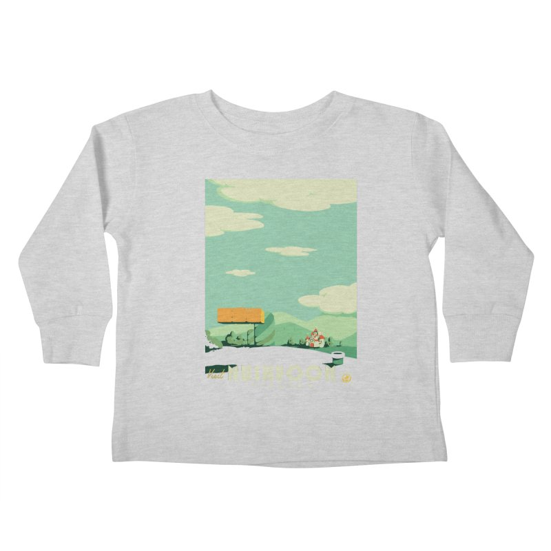 Visit Mushroom Kingdom Kids Toddler Longsleeve T-Shirt by mathiole