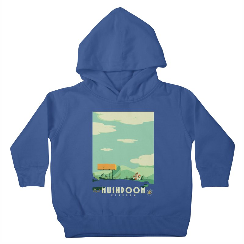 Visit Mushroom Kingdom Kids Toddler Pullover Hoody by mathiole