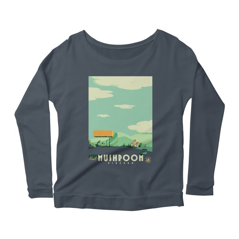 Visit Mushroom Kingdom Women's Scoop Neck Longsleeve T-Shirt by mathiole