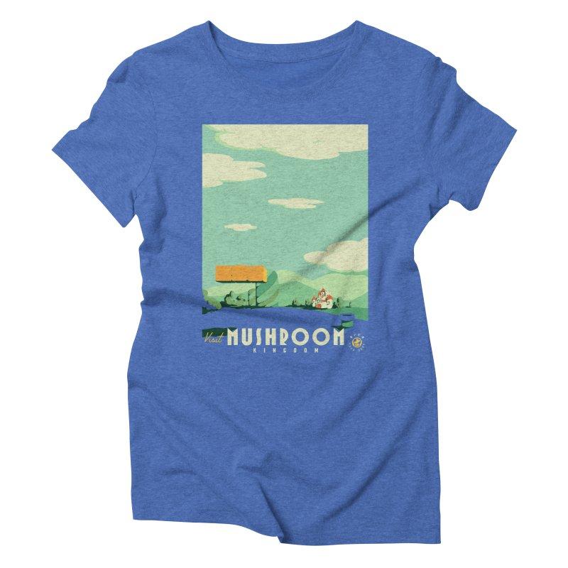 Visit Mushroom Kingdom Women's Triblend T-Shirt by mathiole