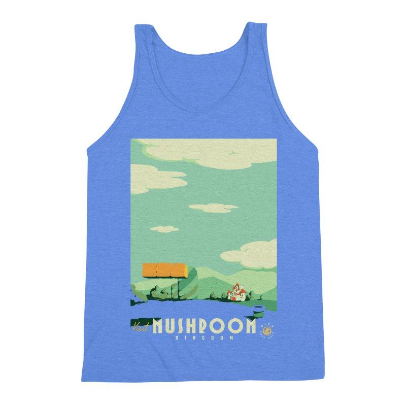 Visit Mushroom Kingdom Men's Triblend Tank by mathiole