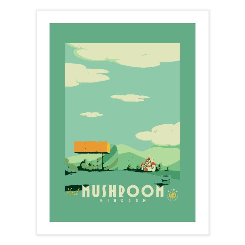 Visit Mushroom Kingdom Home Fine Art Print by mathiole