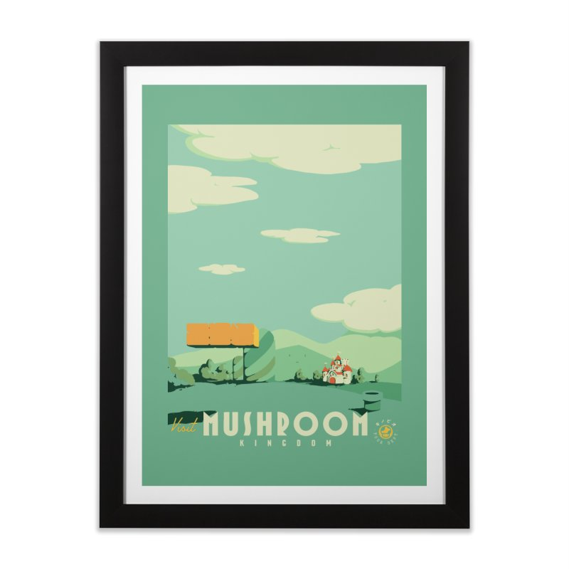 Visit Mushroom Kingdom Home Framed Fine Art Print by mathiole