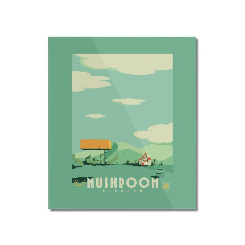 Visit Mushroom Kingdom Home Mounted Acrylic Print by mathiole