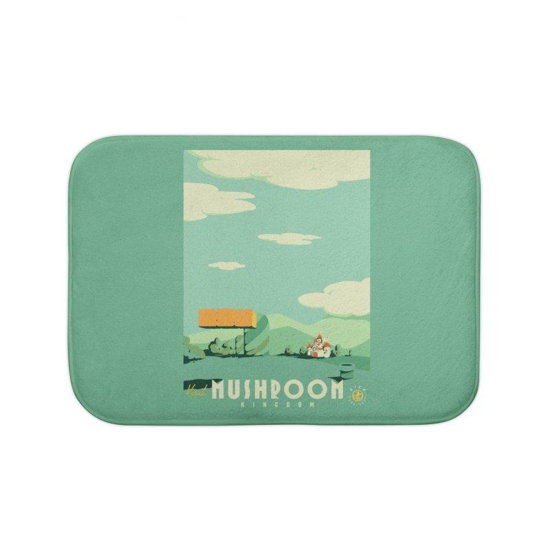 Visit Mushroom Kingdom Home Bath Mat by mathiole