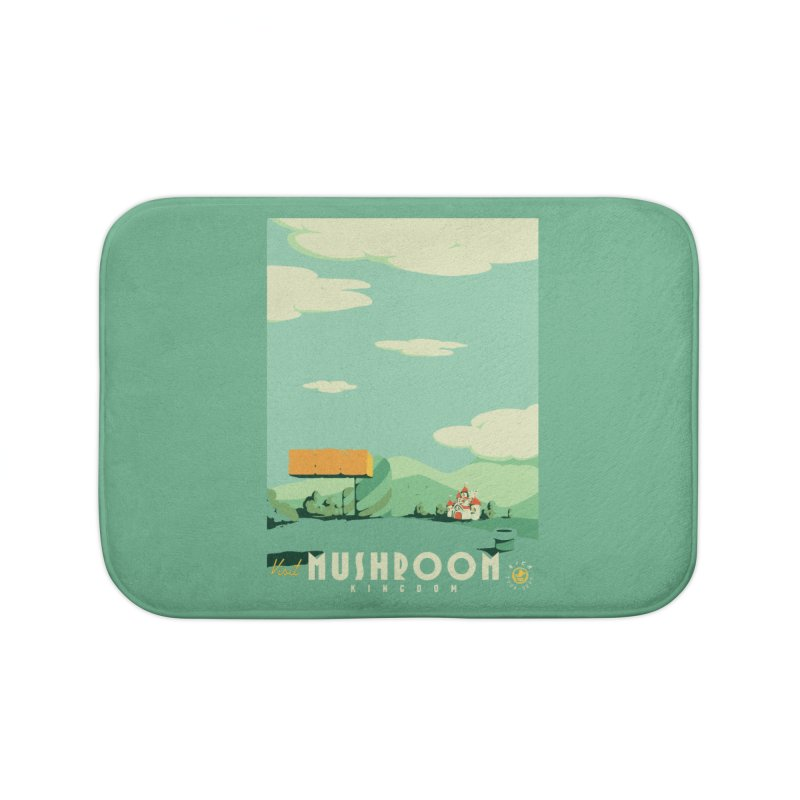 Visit Mushroom Kingdom Home Bath Mat by mathiole