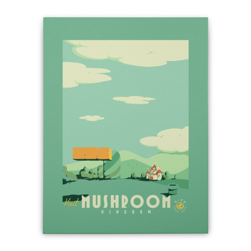 Visit Mushroom Kingdom Home Stretched Canvas by mathiole