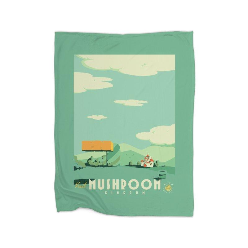 Visit Mushroom Kingdom Home Blanket by mathiole