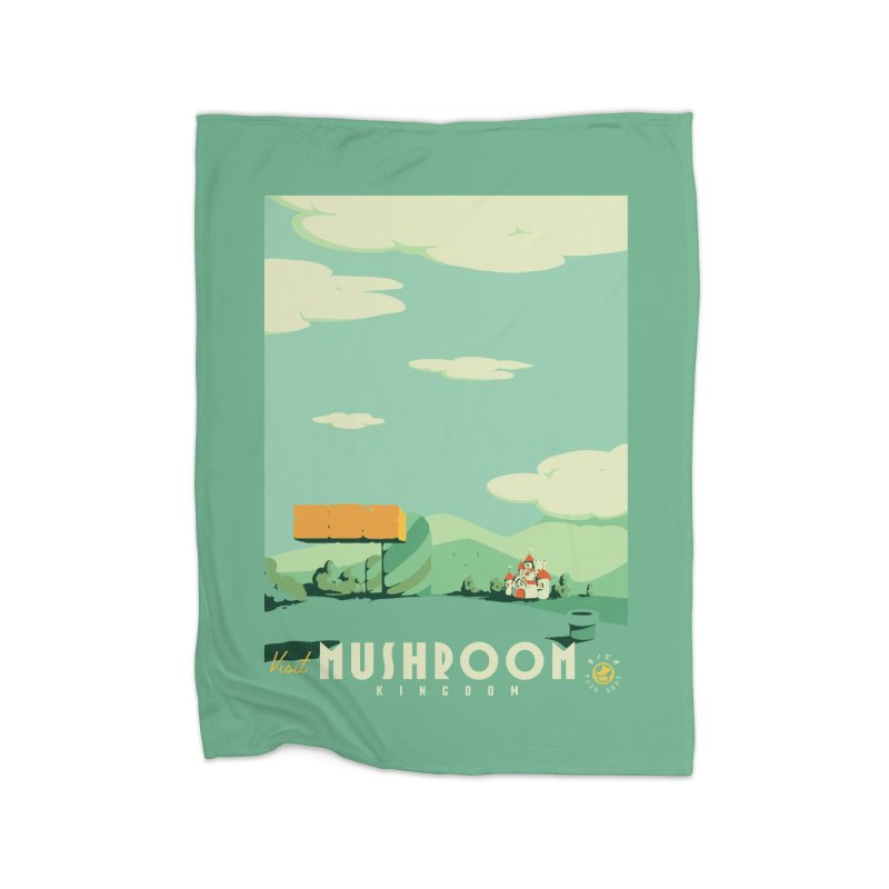 Visit Mushroom Kingdom Home Blanket by mathiole