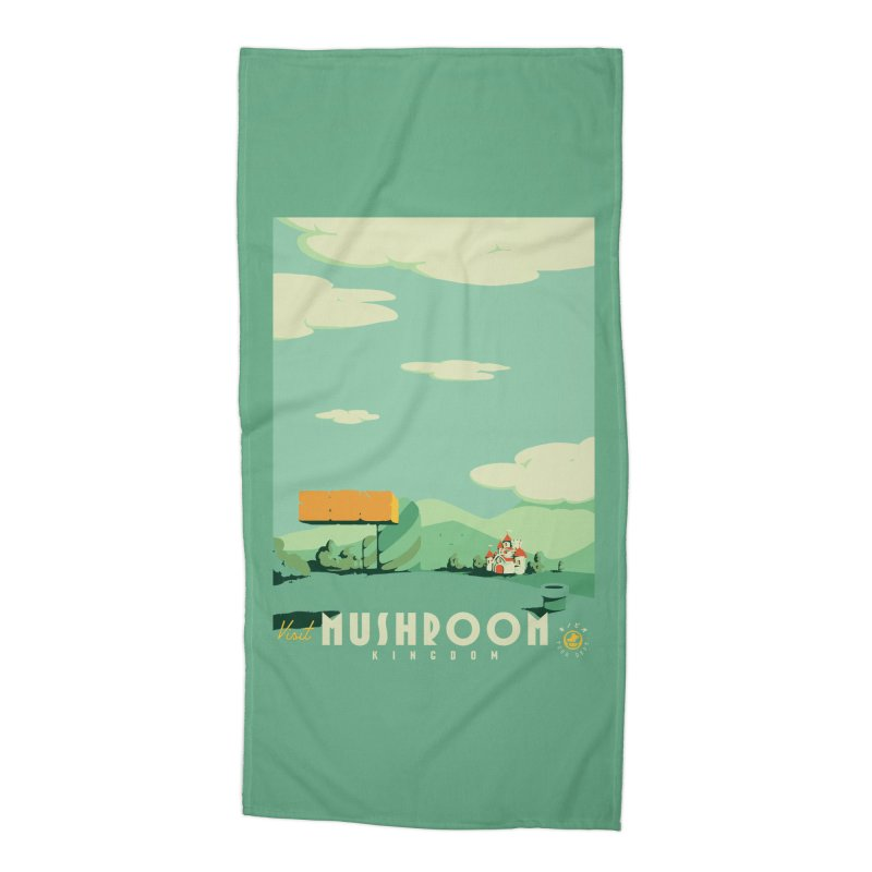 Visit Mushroom Kingdom Accessories Beach Towel by mathiole