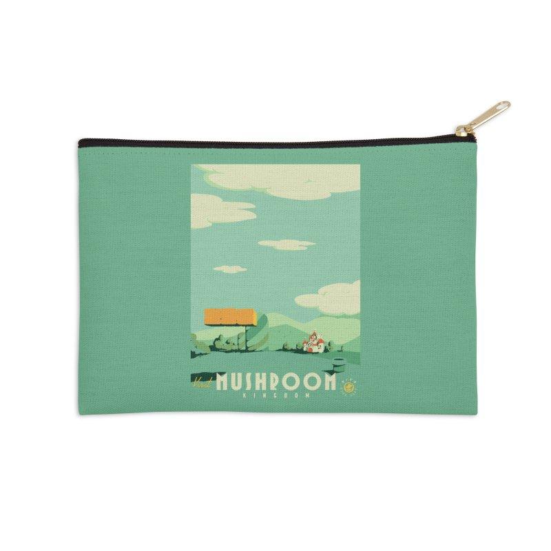 Visit Mushroom Kingdom Accessories Zip Pouch by mathiole