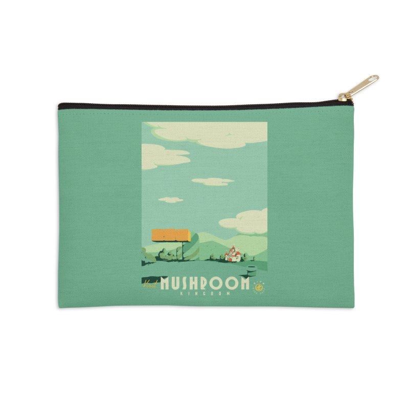 Visit Mushroom Kingdom Accessories Zip Pouch by mathiole