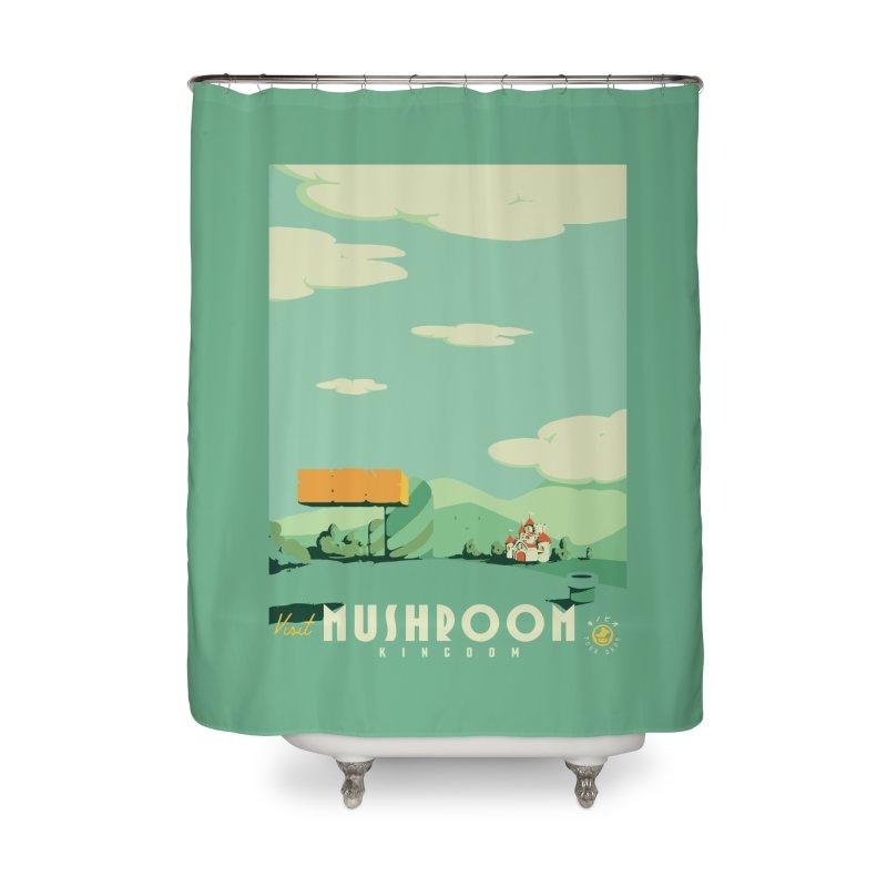 Visit Mushroom Kingdom Home Shower Curtain by mathiole