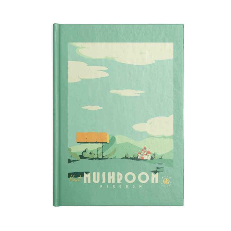 Visit Mushroom Kingdom Accessories Lined Journal Notebook by mathiole