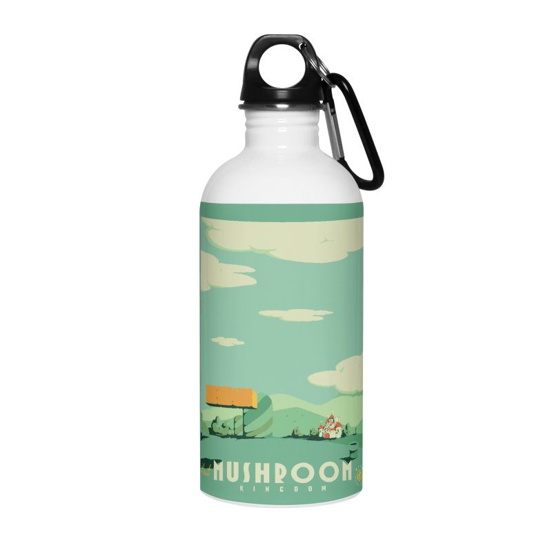 Visit Mushroom Kingdom Accessories Water Bottle by mathiole