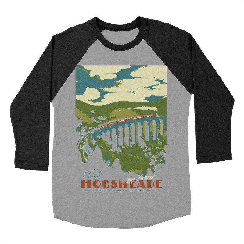 Visit Hogsmead Men's Baseball Triblend Longsleeve T-Shirt by mathiole