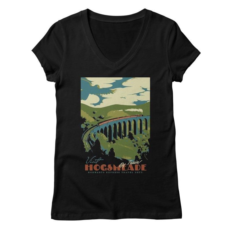 Visit Hogsmead Women's V-Neck by mathiole