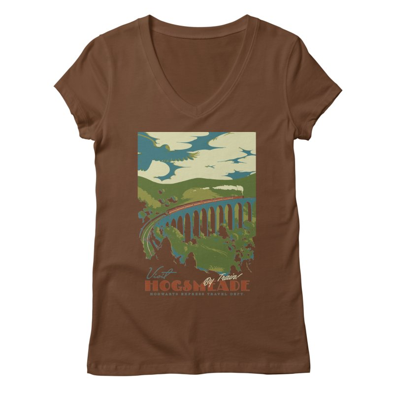 Visit Hogsmead Women's Regular V-Neck by mathiole