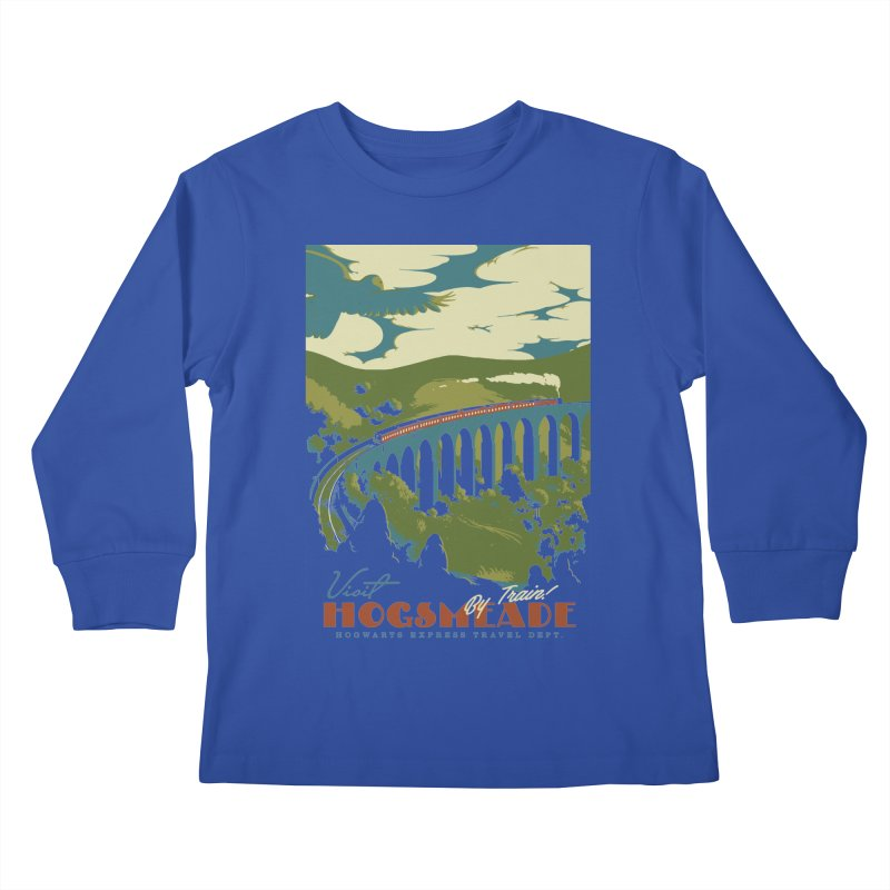 Visit Hogsmead Kids Longsleeve T-Shirt by mathiole
