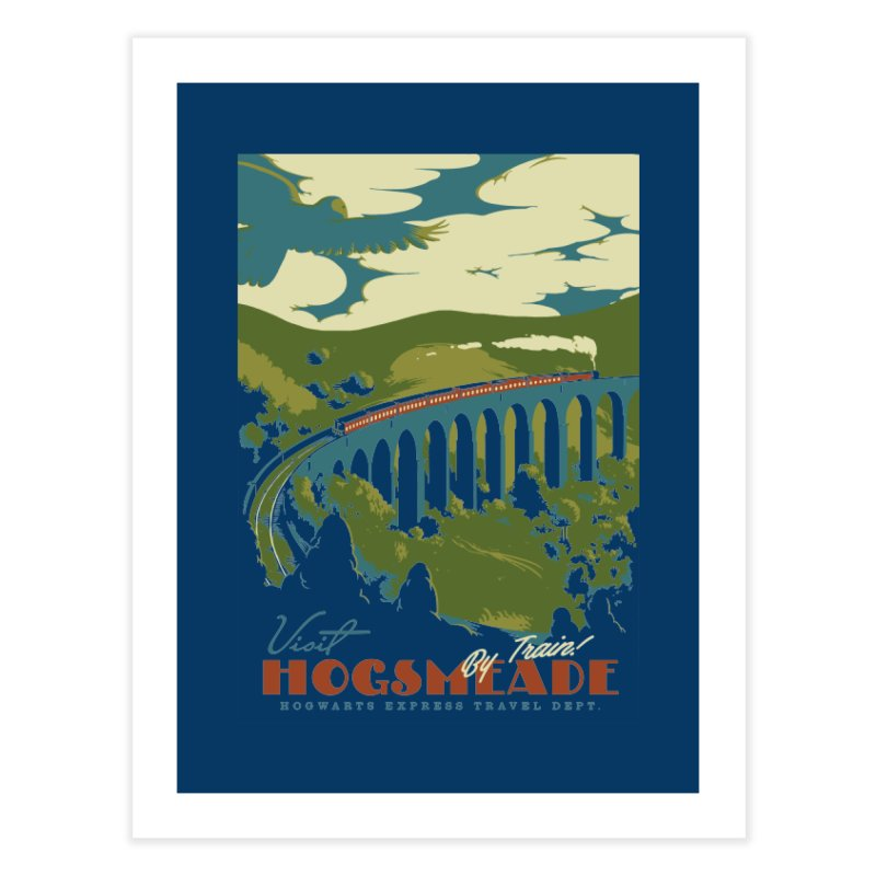 Visit Hogsmead Home Fine Art Print by mathiole