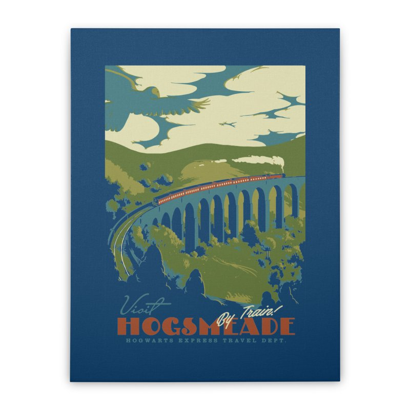 Visit Hogsmead Home Stretched Canvas by mathiole