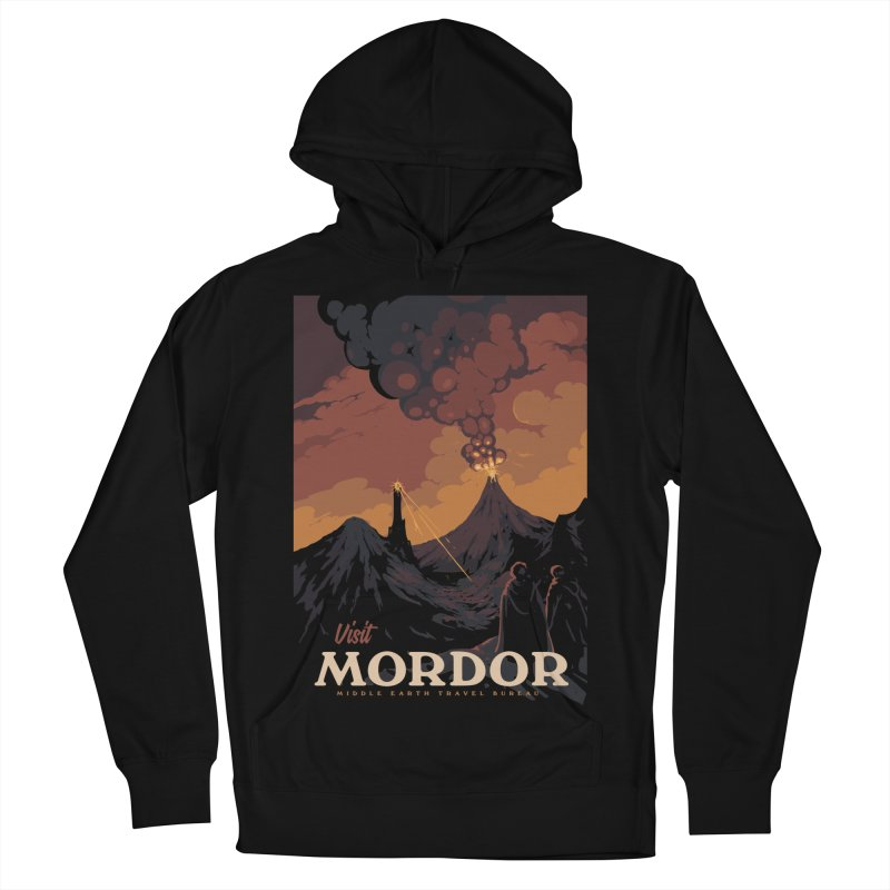 Visit Mordor Men's French Terry Pullover Hoody by mathiole