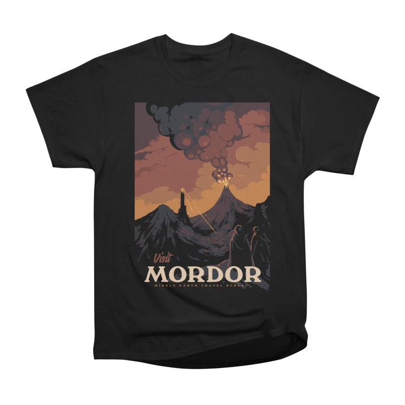 Visit Mordor Women's Heavyweight Unisex T-Shirt by mathiole
