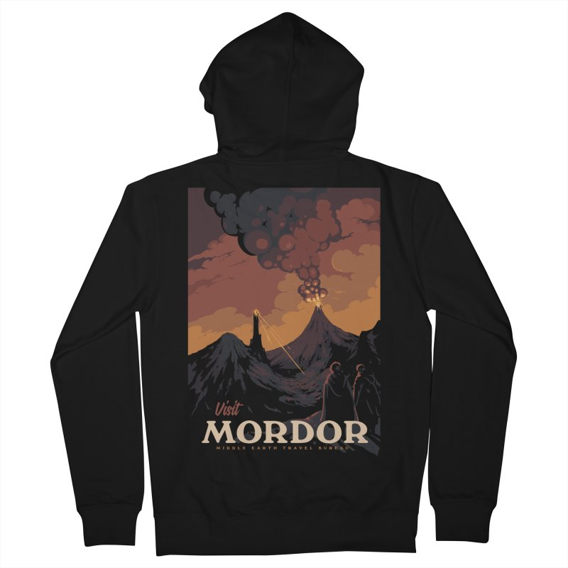 Visit Mordor Women's French Terry Zip-Up Hoody by mathiole