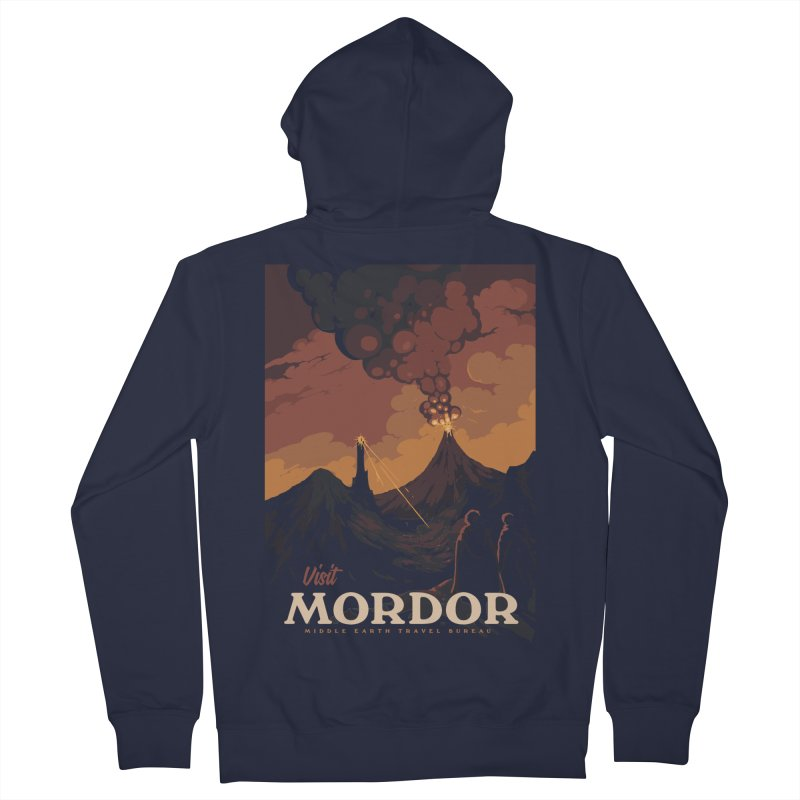 Visit Mordor Men's French Terry Zip-Up Hoody by mathiole