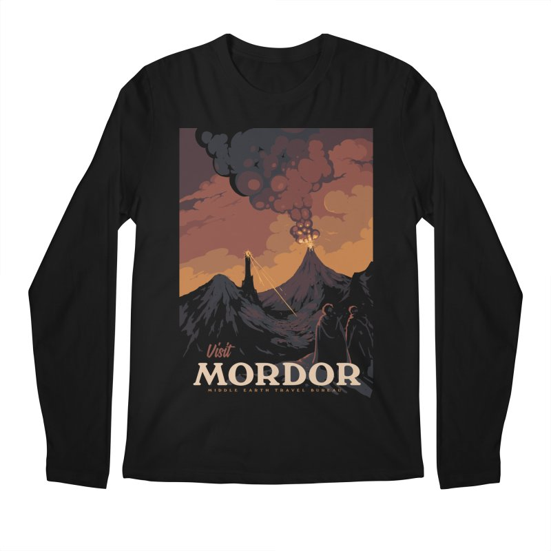 Visit Mordor Men's Regular Longsleeve T-Shirt by mathiole