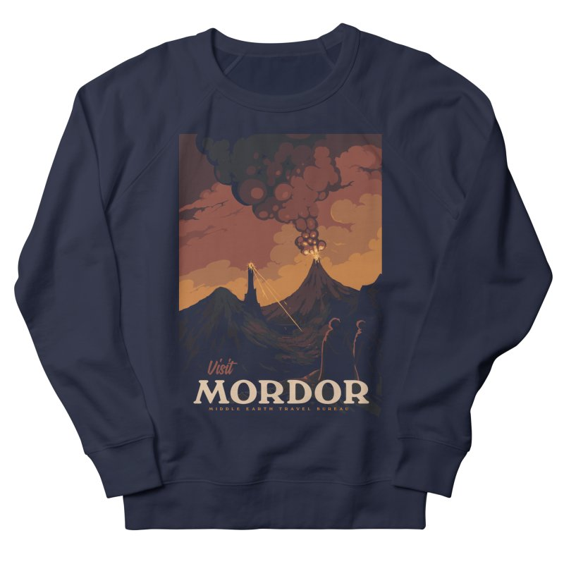 Visit Mordor Men's French Terry Sweatshirt by mathiole