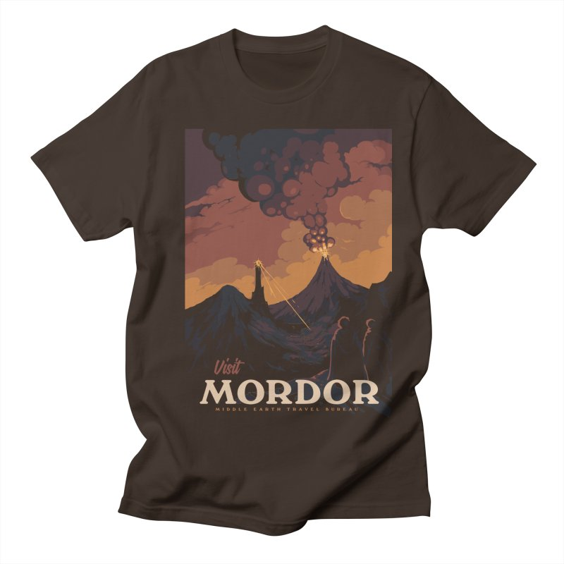 Visit Mordor Men's Regular T-Shirt by mathiole